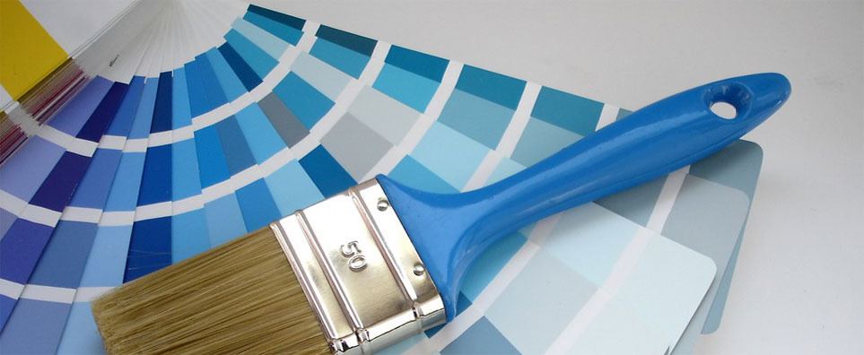 Blue Paint Sample Banner Image